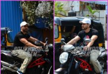 Kunal Kemmu enjoys  a bike ride in Mumbai
