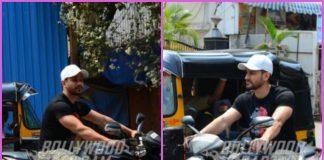 Kunal Kemmu enjoys  a bike ride in Mumbai