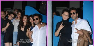 Kangana Ranaut, Rajkummar Rao and Ekta Kapoor dine together