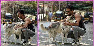 Pulkit Samrat poses with his dog Drogo