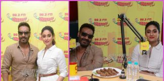 Ajay Devgn and Ileana D'Cruz promote Raid with listeners on Radio Mirchi
