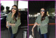 Rani Mukerji smiles and poses for paparazzi at airport