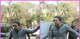 Ranveer Singh spends leisure time at club