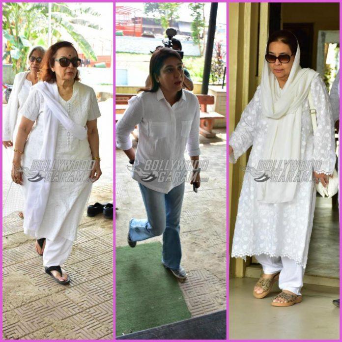 Shammi aunty funeral
