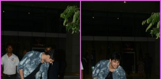 Sidharth Malhotra interacts with a stray pooch outside a restaurant
