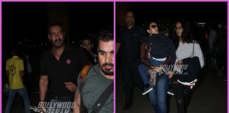 Ajay Devgn and Kajol with children Nysa and Yug at airport