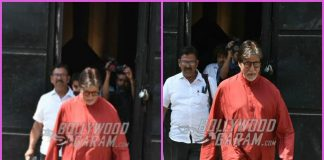 Amitabh Bachchan wears traditional while shooting for commercial