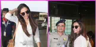 Deepika Padukone all smiles as she leaves for Bengaluru