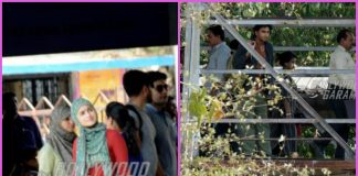 Alia Bhatt and Ranveer Singh shoot for Gully Boy at a railway station