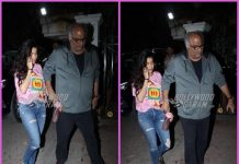 Boney Kapoor and Janhvi Kapoor visit Arjun Kapoor at his residence