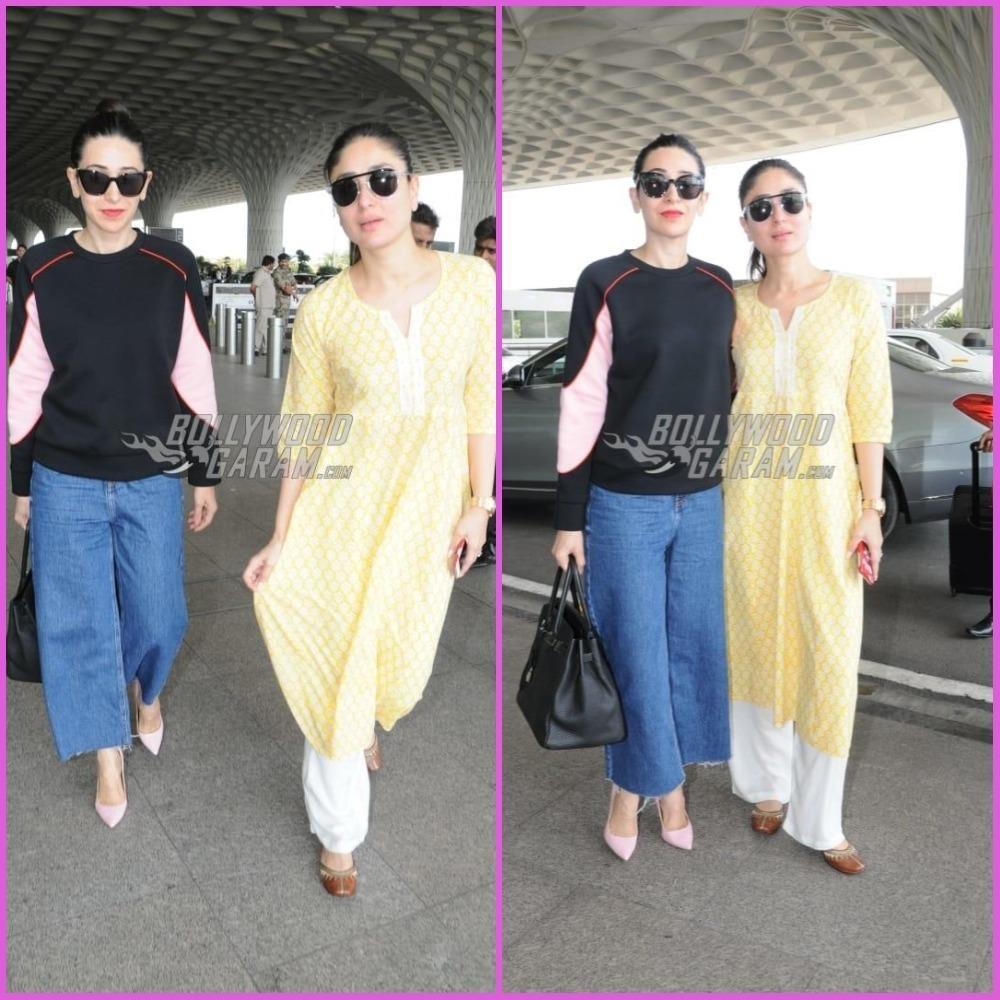 Kareena Kapoor and Karisma Kapoor make a gorgeous appearance at airport