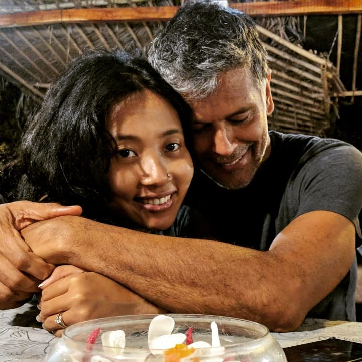 Milind Soman weds Ankita