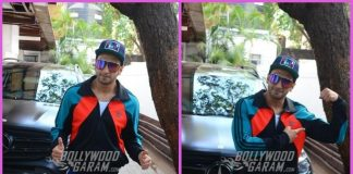 Ranveer Singh poses for shutterbugs post physiotherapy session