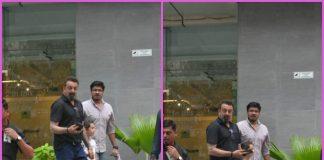 Sanjay Dutt takes kids Shahraan and Iqra to hospital