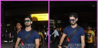 Shahid Kapoor was all smiles as he returns from Delhi