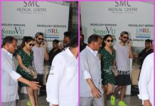 Shahid Kapoor and Mira Rajput Kapoor visit the clinic