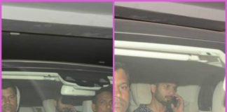 Shahid Kapoor visits Karan Johar at his residence