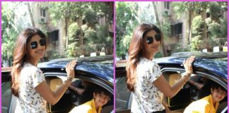Shilpa Shetty picks up son Viaan Raj Kundra from school