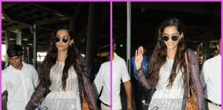 Sonam Kapoor looks gorgeous as she return from Dubai
