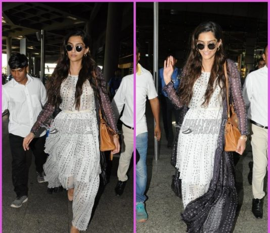Sonam Kapoor looks gorgeous as she return from Dubai