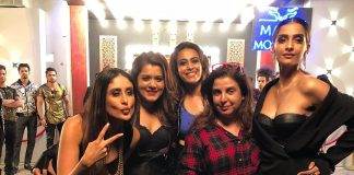 Kareena Kapoor, Swara Bhaskar, Shikha Talsania and Sonam Kapoor pose on sets of Veere Di Wedding  song