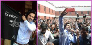 Varun Dhawan promotes October at a Delhi college