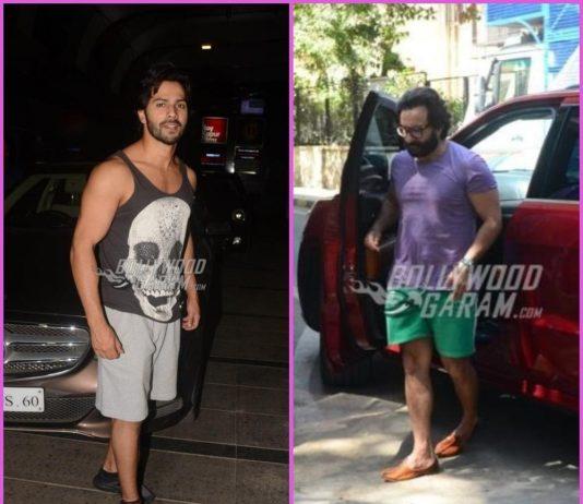 Saif Ali Khan busy at work, Varun Dhawan poses post gym session