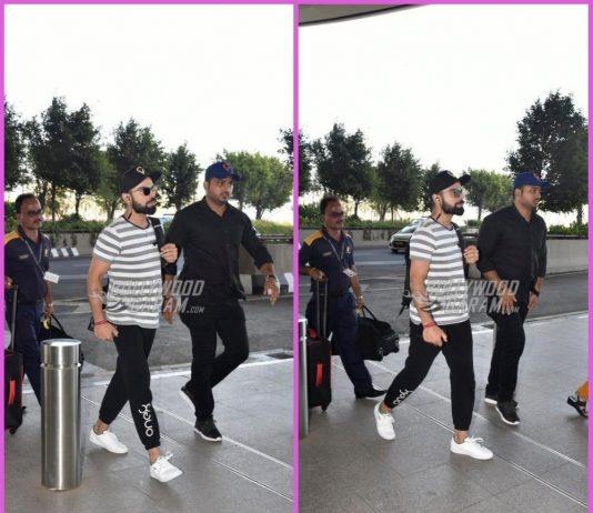 Virat Kohli makes a cool appearance at airport