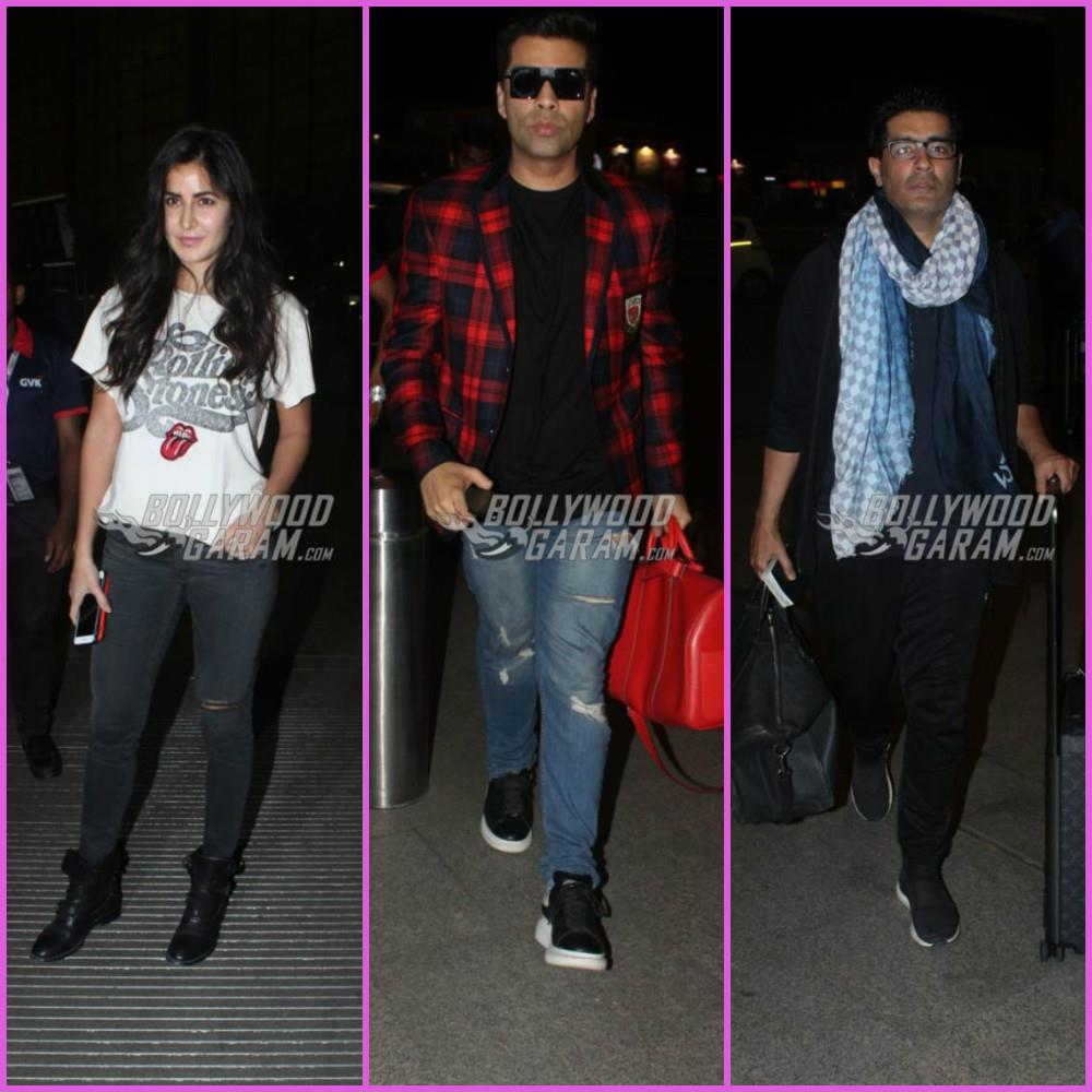 Katrina Kaif and Karan Johar head to London together
