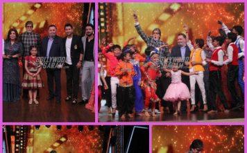 Amitabh Bachchan and Rishi Kapoor have fun on sets of Dance India Dance Li'l Masters