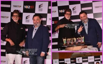 Amitabh Bachchan and Rishi Kapoor celebrate success of 102 Not Out at a press event