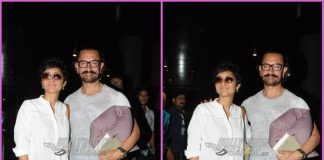 Aamir Khan and Kiran Rao all poses for cameras as they return from Aurangabad