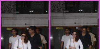 Akshay Kumar and Twinkle Khanna discuss work at Ritesh Sidhwani's office