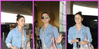 A trendy and happy Alia Bhatt leaves for Delhi