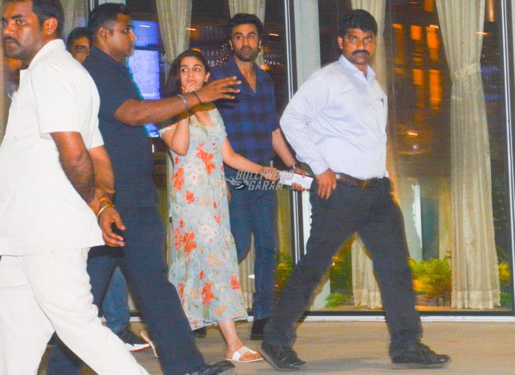 Alia Bhatt, Ranbir Kapoor and Karan Johar attend Raazi special screening