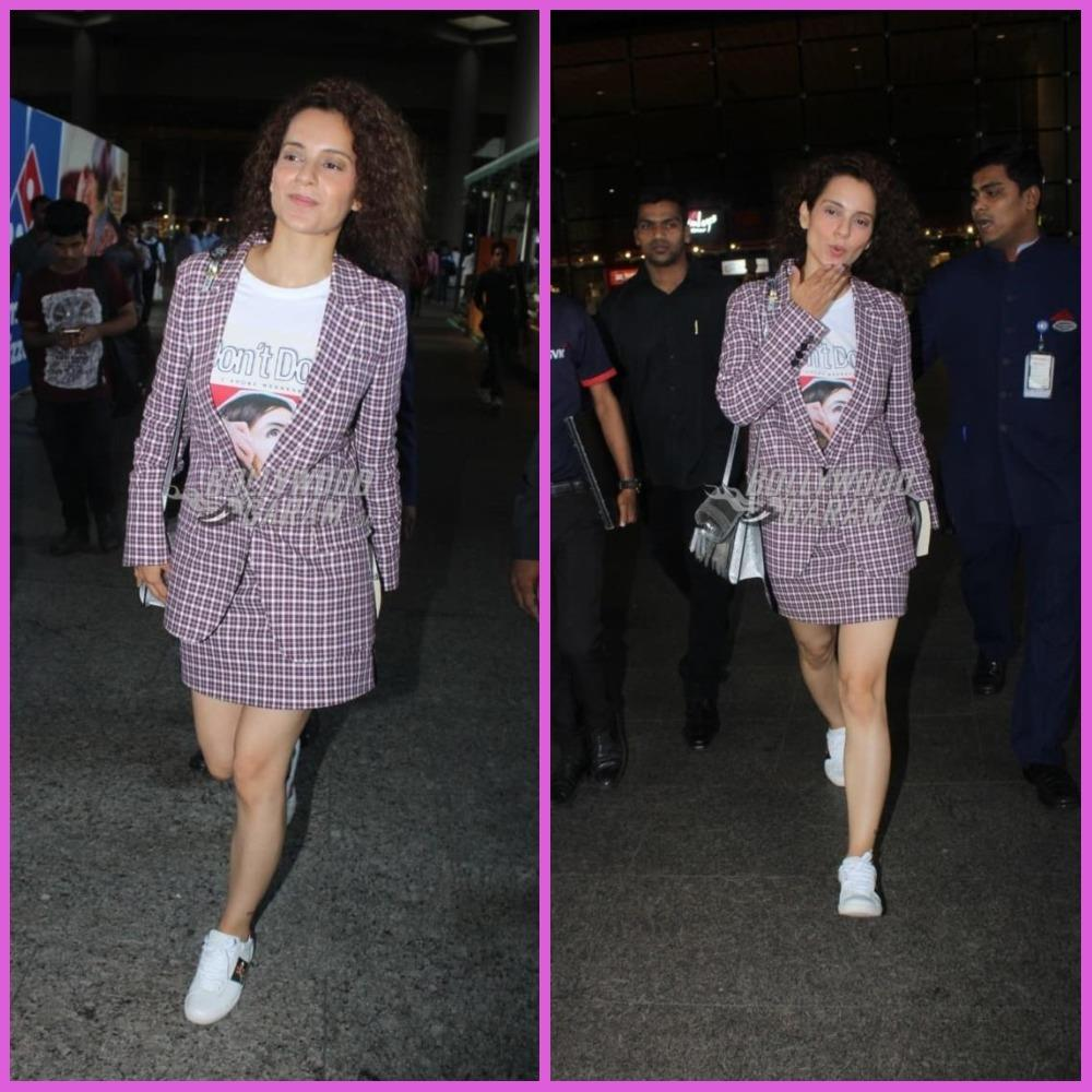 Kangana Ranaut looks like she means business as she returns from Cannes