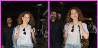 Kangana Ranaut makes a joyful appearance at airport