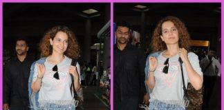 Kangana Ranaut makes a joyful appearance at airport