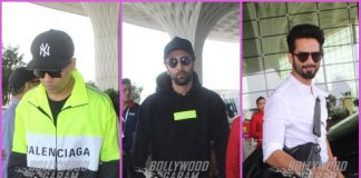 Karan Johar, Ranbir Kapoor and Shahid Kapoor leave for press conference in Delhi