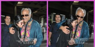 Boney Kapoor receives daughter Khushi Kapoor at airport