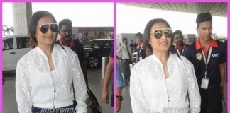 Rani Mukerji all smiles in casuals at airport