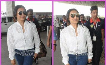 Rani Mukerji all smiles in casuals at airport