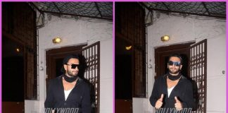 Ranveer Singh poses for paparazzi post dubbing session