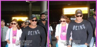 Salman Khan and Jacqueline Fernandez return from Race 3 shoot
