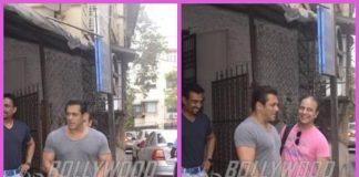 Salman Khan on a busy day at dubbing studio