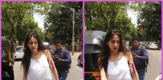 Sara Ali Khan looks cool as she exits a restaurant