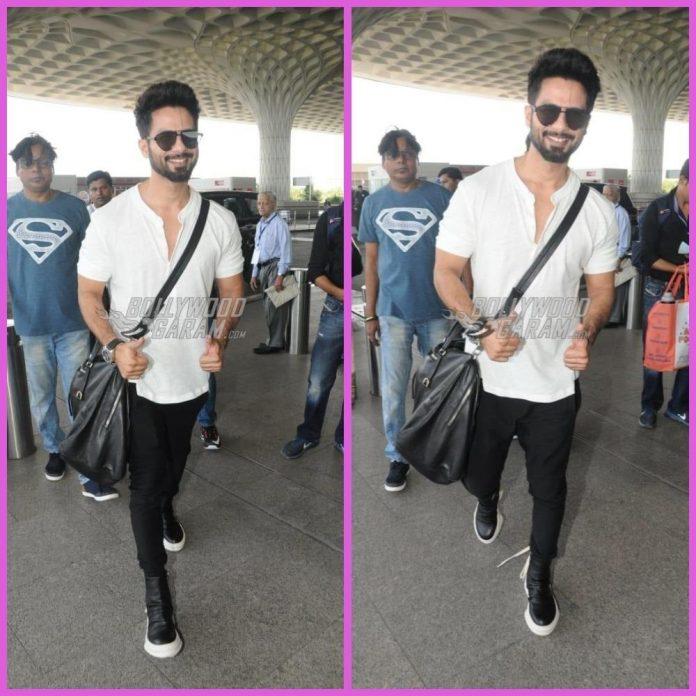 Shahid Kapoor airport