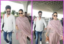 Shahid Kapoor and Mira Rajput leave for Delhi together