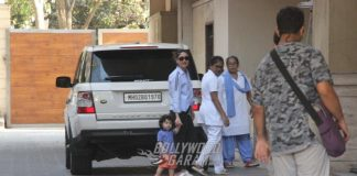 Kareena Kapoor and Taimur Ali Khan on a casual visit to Amrita Arora's house