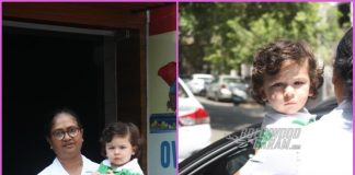 Taimur Ali Khan goes paparazzi friendly outside his playschool